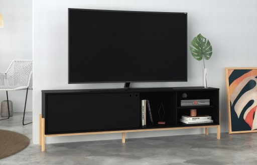 Phoenix Black TV Unit - 185cm