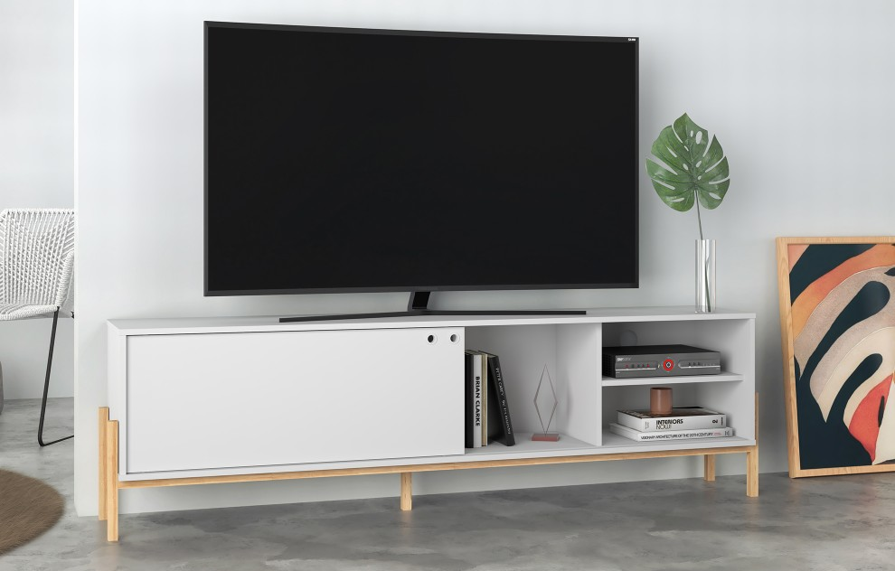 Phoenix White TV Unit - 185cm