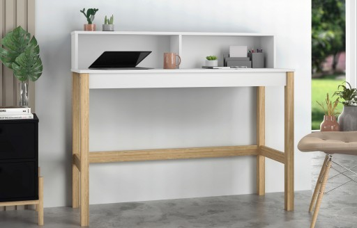 Phoenix Moderner weißer Schreibtisch- 120cm