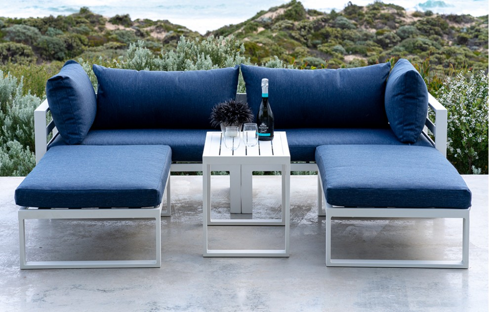 Santorini – Lounge Set with Side Cushions – Blue