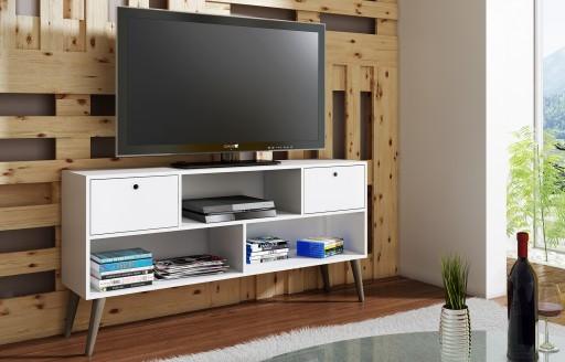 Savannah weißer Fernsehständer - 135cm
