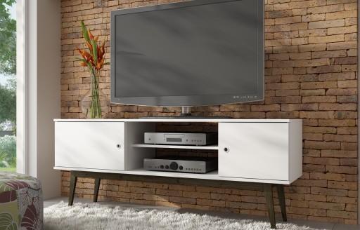 Savannah weißer Fernsehständer - 150cm