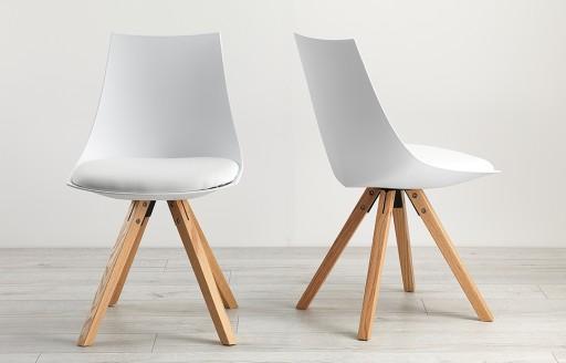 Scoop – Stühle im Eames-Stil – Weiß – Zweierset
