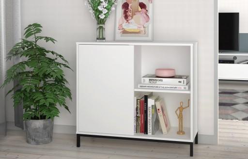 Vola White Sideboard - 1 Door - 90cm