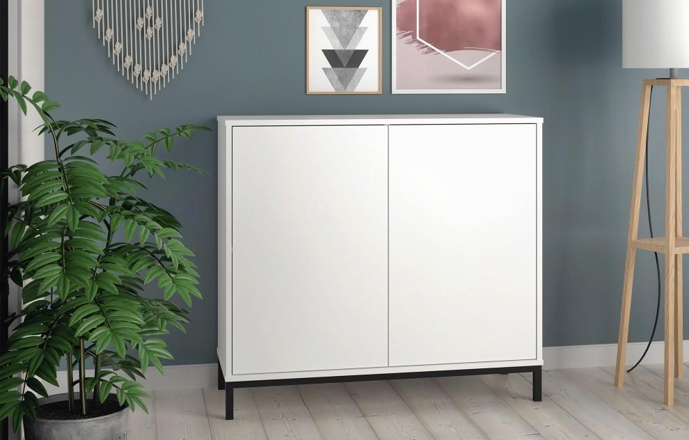 Vola weiße Anrichte - 2 Türen - 90cm
