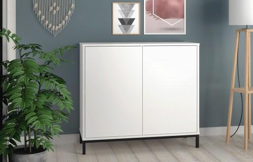 Vola White Sideboard - 2 Doors - 90cm