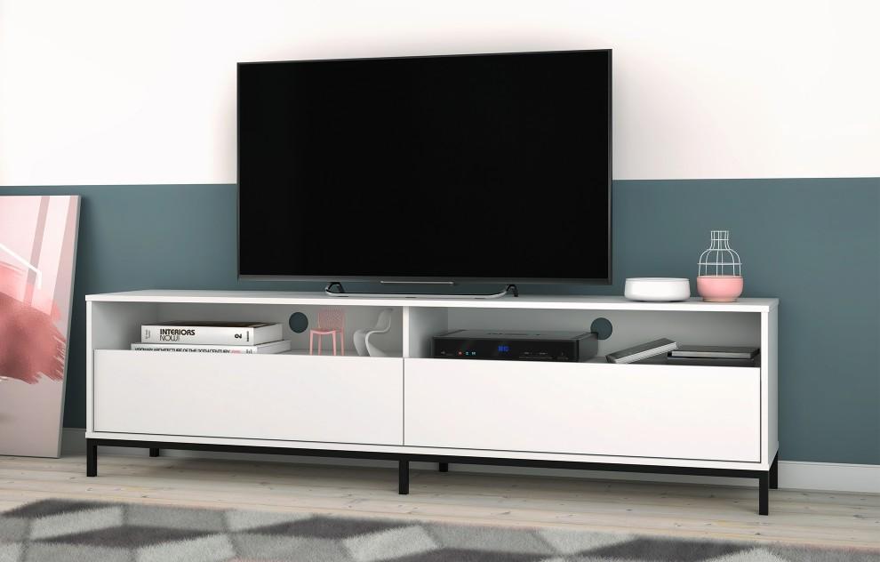 Vola weißer Fernsehständer - 180cm