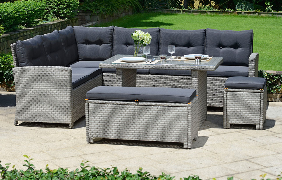 Lounge Rattan Set With Cushions Garden Furniture Out Out Original
